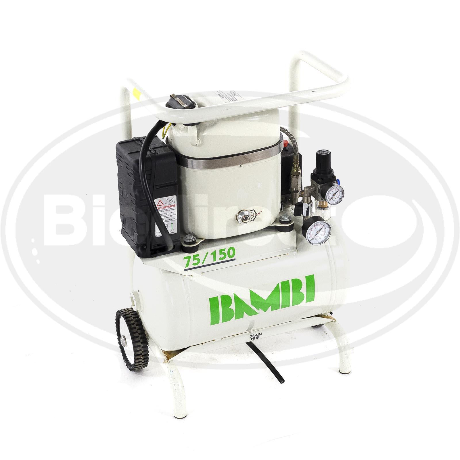Used Bambi Pumpair Compressor Md75 150 For Sale Biodirect Usa Compact Powder